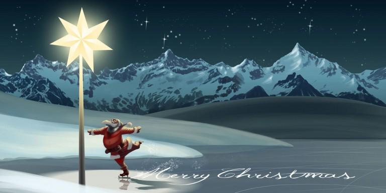Europoles-Weihnachtskarte